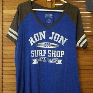 Ron Jon's Surf Shop Graphic V-neck Shirt